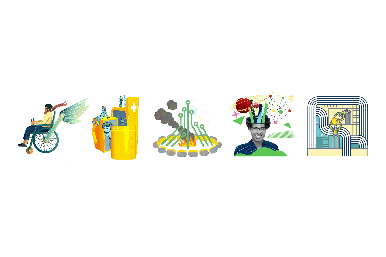 Brookfield Institute for Innovation + Entrepreneurship - Website Work Stream Illustrations